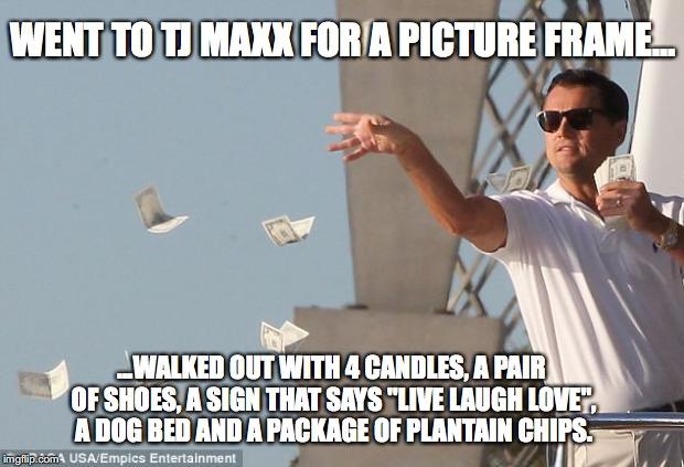 TJ Maxx Leo Meme